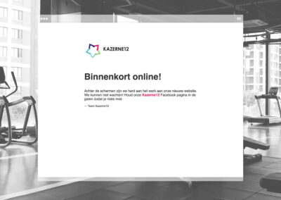 Kazerne12 Landing page