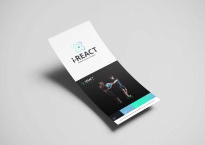 i-React Logo Design